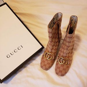 GUCCI Monogram Canvas GG Ankle Boot